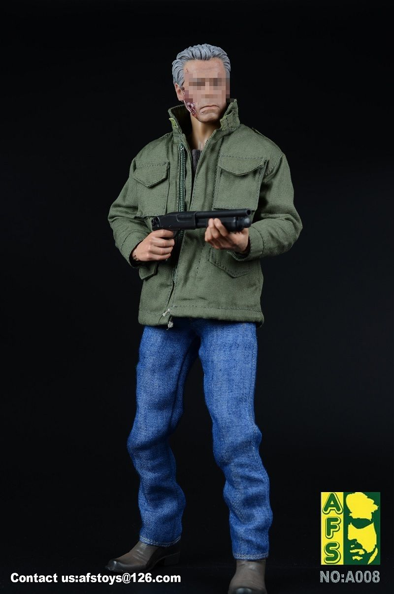 1/6 Arnold Coat Jeans Clothes Shoes Set With Gun Model Male Windbreaker for 12 inches Action Figure
