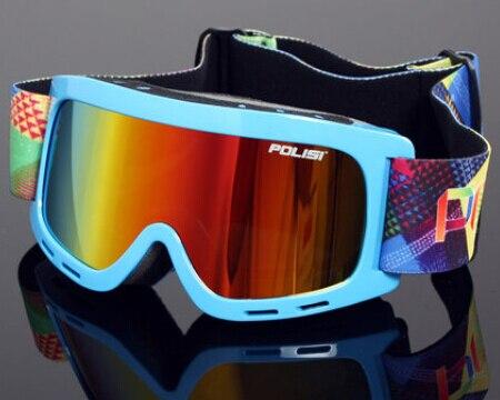 Prix pour Nouveau 2015 Polisi Enfants D'hiver En Plein Air Traîneau Lunettes de Ski Motoneige Lunettes Anti-brouillard Sport De Protection Snowboard Patinage Lunettes