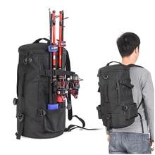 45x26x26cm Black Column Fishing Backpack 1000D Polyester 23L Crossbody One-Shoulder Bag Fishinfg Accessories Handbag