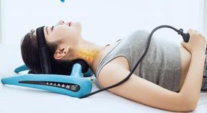 Image 4 - Aparato de tracción cervical, corrector inflable para el cuello y cuello del hogar, camilla para el dolor de cuello