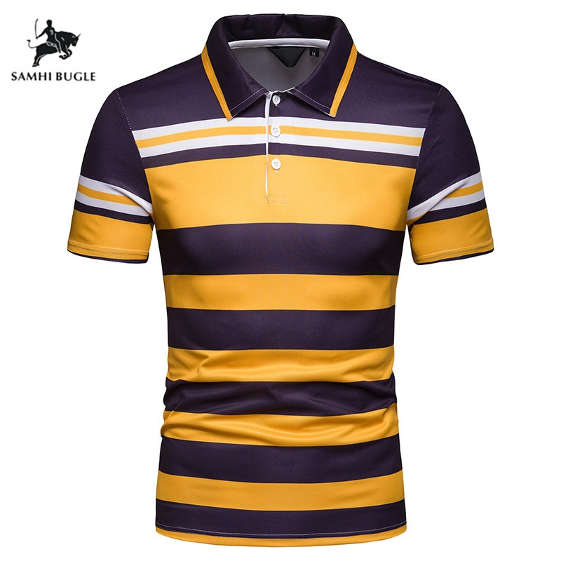 New 2019 Brand Striped   Polo   Shirt Men Cotton High Quality Tops Tees   polo   hombre Business men brands   Polos   Shirts