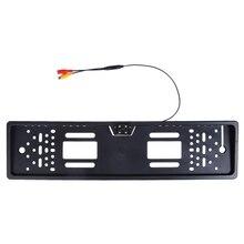 Europeo Auto Numero License Plate Frame Videocamera vista posteriore 4 Led di Visione Notturna di Inverso di Backup di Parcheggio di Rearview Cam Auto Accessorio