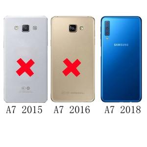 Image 3 - Virar Caso Capa De Couro Para Samsung Galaxy A7 2018 A750FD Wallet Phone Case Capa Com Suporte de Cartão de Crédito Para GalaxyA7 2018