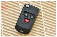 3 BUTTONS MODIFIED KEYLESS ENTRY FLIP FOLDING REMOTE KEY CASE SHELL FOR FORD ESCAPE FOB KEY