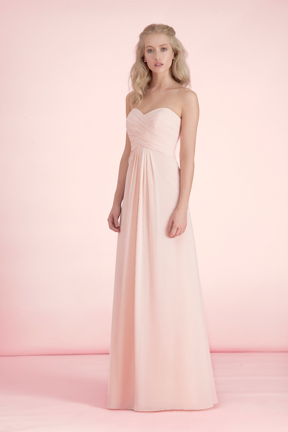Aliexpress buy simple light pink bridesmaid dresses custom aliexpress buy simple light pink bridesmaid dresses custom made sweetheart pleated long chiffon a line special occasion dress formal gown klr20 from ombrellifo Image collections