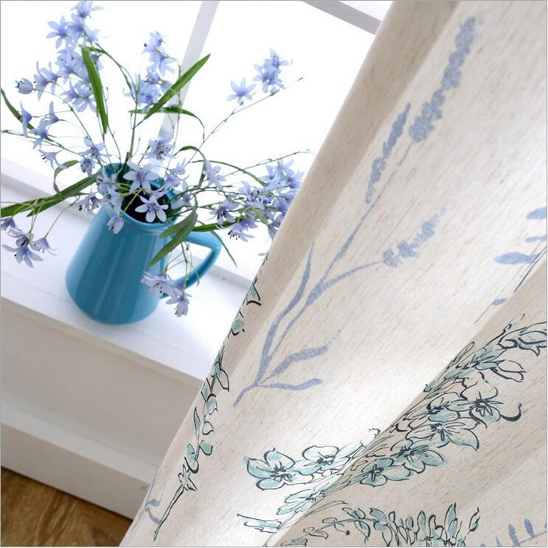 Cotton Linen Blackout Curtains Drapes Drops Door Window Treatment Sheer curtains Fabric Blinds 2017 New Style Hot Sale Su237 *30
