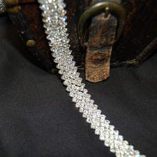 1 Yard Silver 10MM 5 Row Rhinestone Trim Crystal Cup Chain for Dress Clothing Jewelry Bags