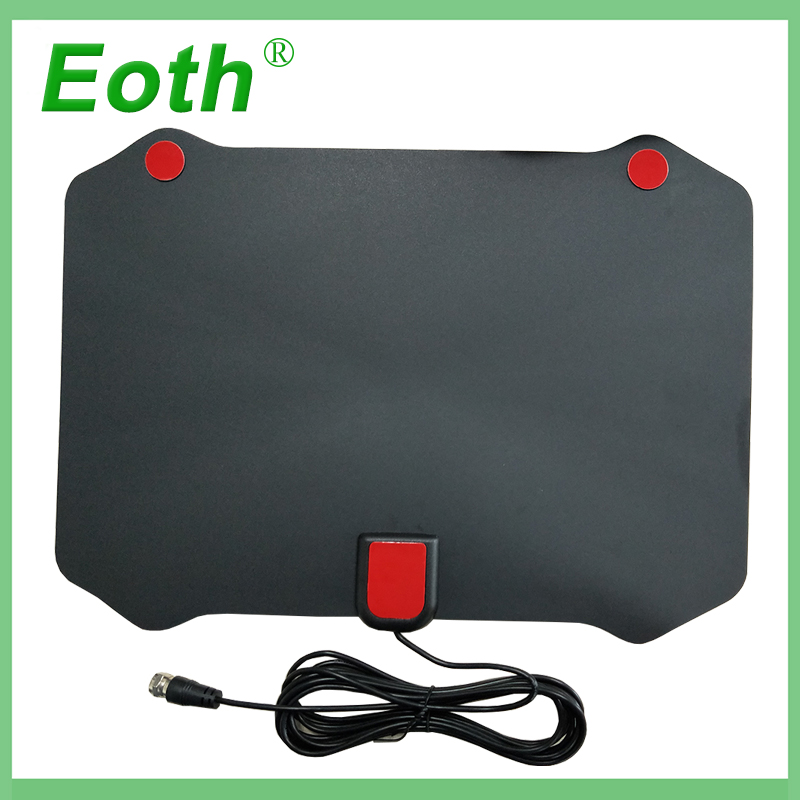 Eoth Indoor Gain 25dBi Digital DVB T FM Freeview Aerial Active Antenna PC for TV HDTV 1080P Digital Wireless Television Antennas in TV Antenna from Consumer Electronics