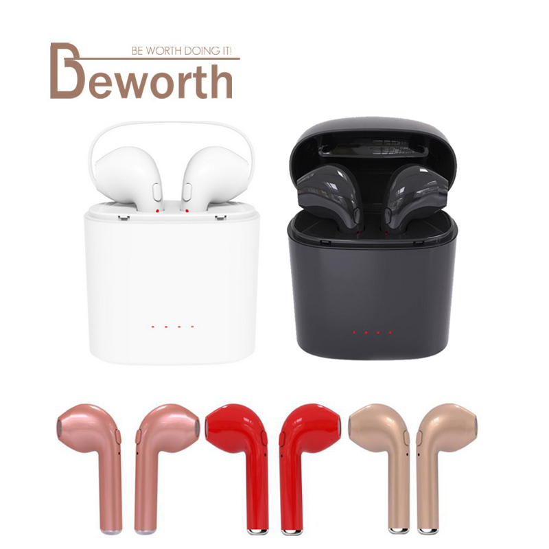 HBQ I7S TWS Twins Earphones Mini Dual Earbud Invisible with Mic Stereo Bluetooth Wireless Headphone Headset Earphone for iPhone8 bluetooth earphone mini wireless stereo earbud 6 hours playtime bluetooth headset with mic for iphone and android devices