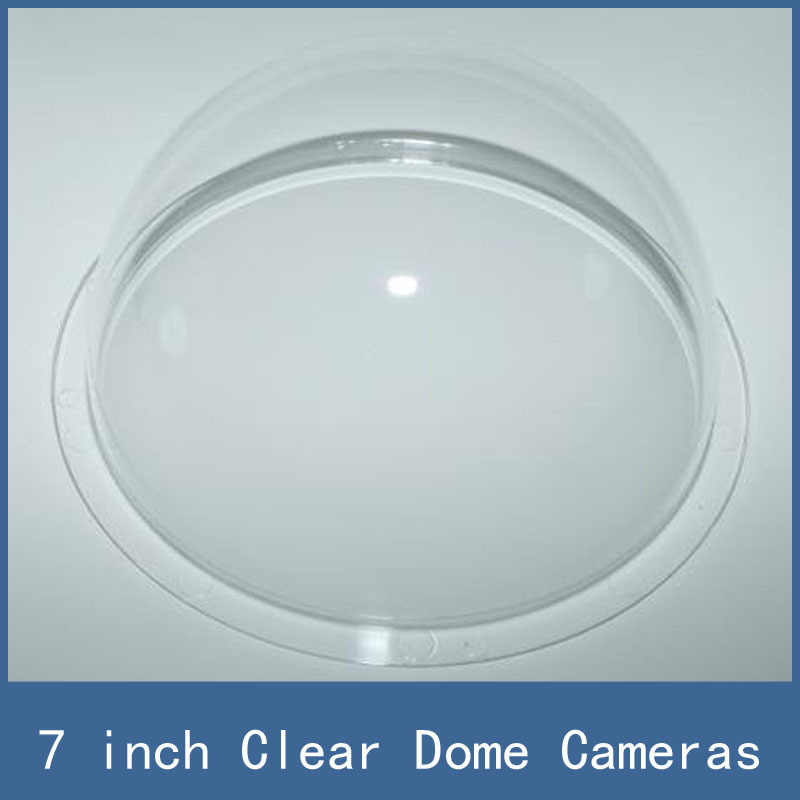 7 inch Clear Transparent Acrylic Speed Dome / Housing for CCTV Camera , wholesale + Dropship + Free Shipping flyfly part ff20 10 canopy set for dg808s 4000mm wholesale price dropship free shipping