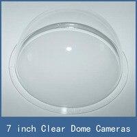 7 pulgadas Clear Transparente Acrílico Speed Dome/Carcasa para Cámara CCTV, al por mayor + Dropship + Free