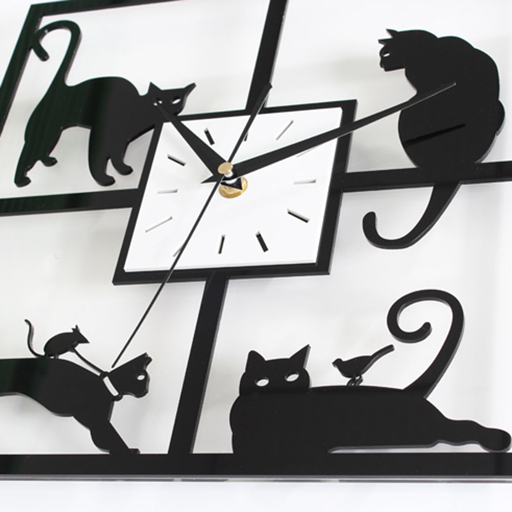 Black cat wall clock choice image home wall decoration ideas cat wall clocks image collections home wall decoration ideas black cat wall clock images home wall amipublicfo Gallery