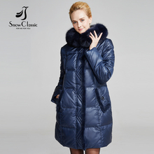 Snowclassic Parka Women Winter Down Coat Female Plus Size 6xl Jacket Real Fox Fur Collar Coats Winter Jacket Women 14371