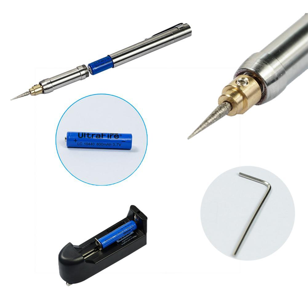 Rechargeable 3.7V Mini Electric Grinder Pen Engraving Pen Sander Polisher Tools Set Mini Grinding Machine