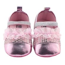 2017 Newborn Baby Girl Shoes Bling First Walkers Spring and Autumn Polka Dot PU Shoes Mesh Slip-On Shoes M1