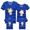 Ming Di Combinando Roupas Novas 2017 Marca de Verão Da Família Família Camisetas Mãe Pai Crianças crianças Outfits New Cotton Tops Tees