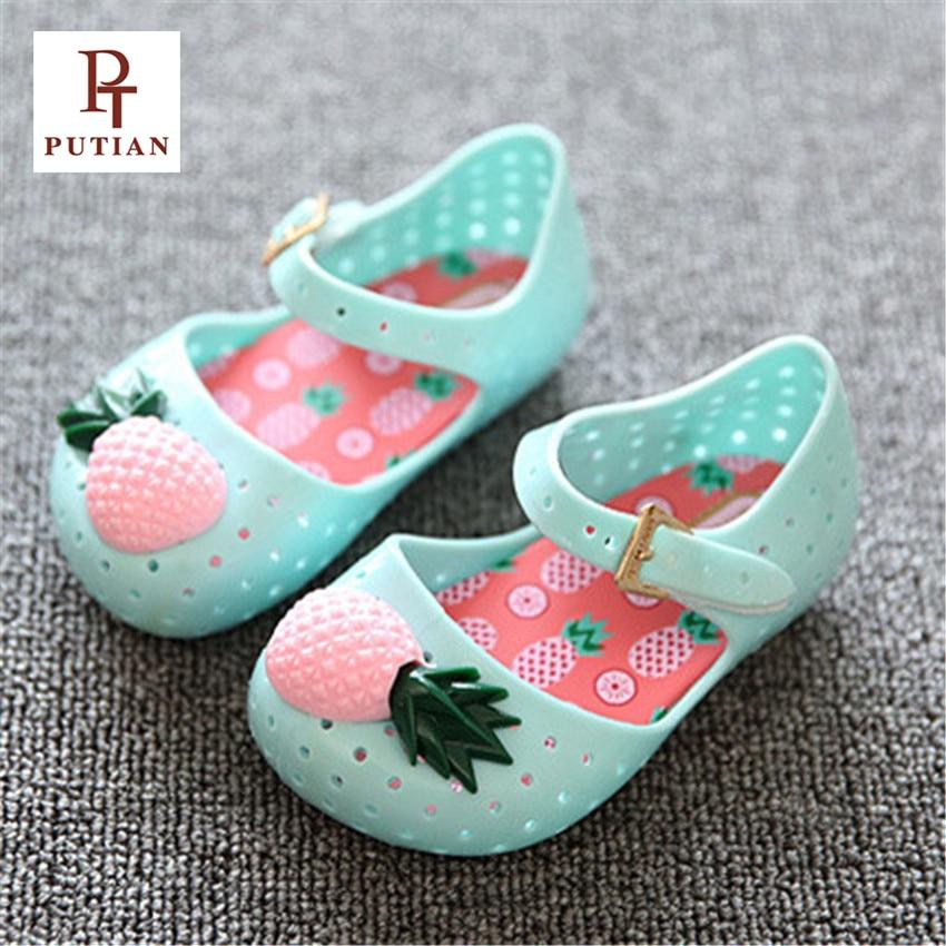 PU TIAN Baby Soft Sole Buty Pineapple Fruit Jelly Summer Baby Shoes - Obuwie dziecięce - Zdjęcie 1