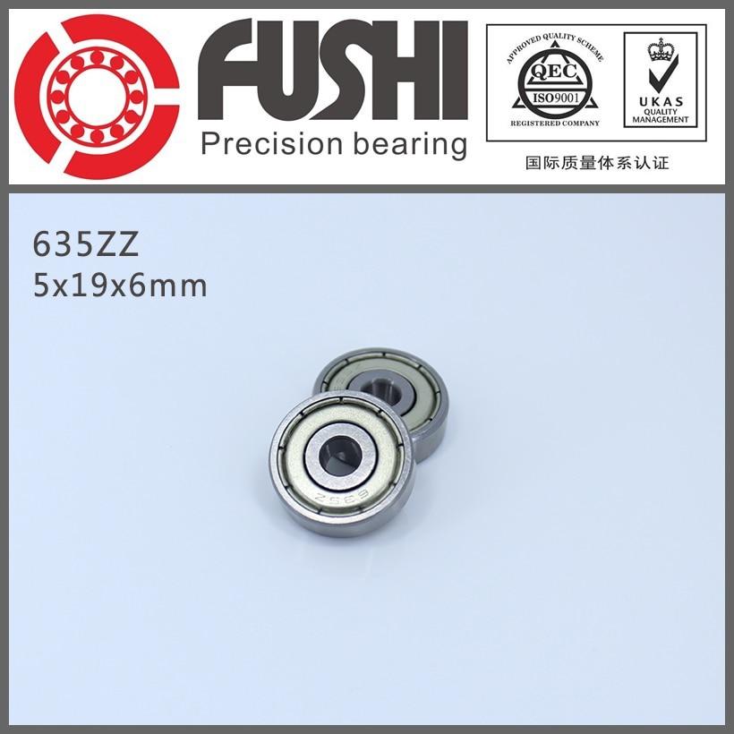 635ZZ Bearing 5*19*6 mm ( 10 Pcs ) ABEC-1 Grade R1950ZZ 635Z Miniature 635 ZZ Ball Bearings