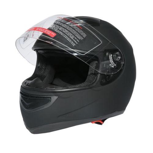 Double visière noir mat Street Sport vélo intégral casque de moto taille M L XL XXL