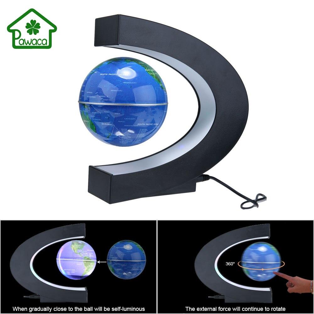Mode LED de décoration pour la maison flottant Tellurion C forme lumineuse lévitation magnétique Anti gravité Globe carte du monde US/UK/EU Plug