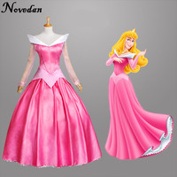 New Discount Princess Sleeping Beauty Aurora Costume Princess Dresses For Adults Halloween Costumes For Women