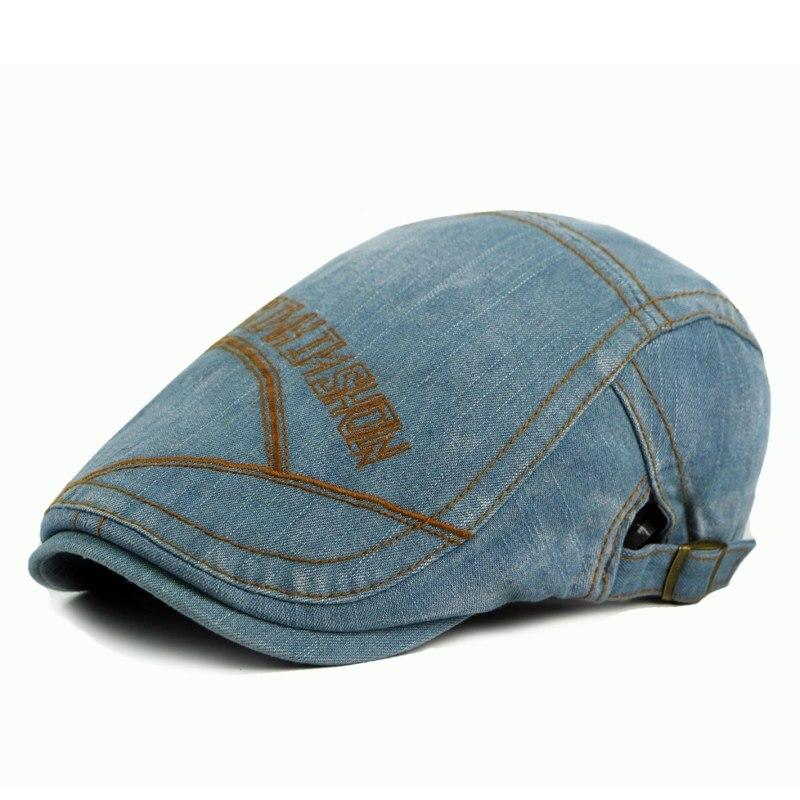 Tennis Caps Sports Outdoors Cap Hats for Men Women Washed Denim Beret Hat Newsboy Golf Caps