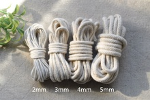 DIY accessories 2 mm / 3 mm / 4 mm / 5 mm of pure cotton stereotype strand rope Solid core round cotton rope