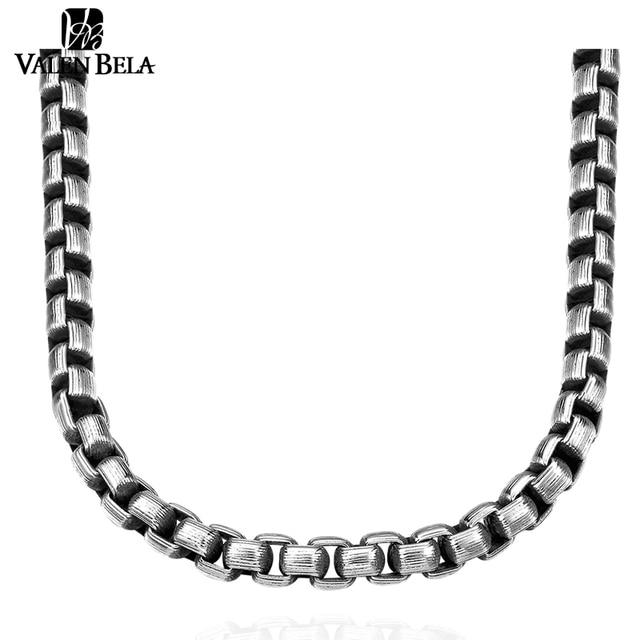 VALEN BELA Cool Men Steampunk Torques Design 316L Titanium Fashion Chain Stainless Steel Vintage Necklace Jewelry XL1682
