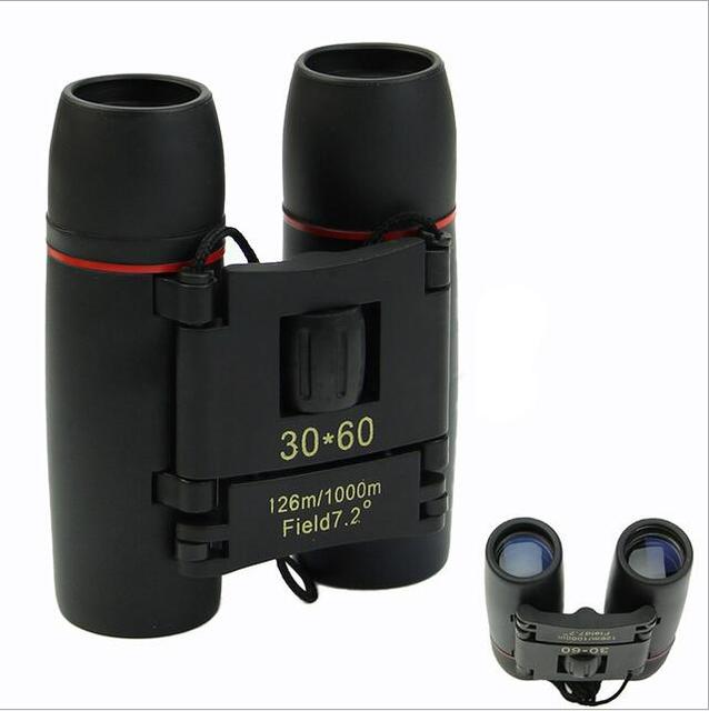 Hot Sale not night vision 30x60 Zoom Optical military Binoculars Telescope (126m-1000m ) telescopio day and night high quality