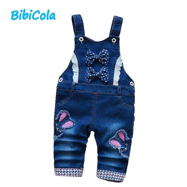 Bibicola Baby Mädchen Hosen Frühjahr Herbst Kind Denim Gesamt Hosen Kleidung Infant Kostüm Mädchen Jeans Hosen Bebe Sport Hosen Offensichtlicher Effekt