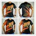FOX T-shirt nova motocicleta de corrida casual-manga curta T-shirt FOX suor wicking-secagem rápida camisa atacado