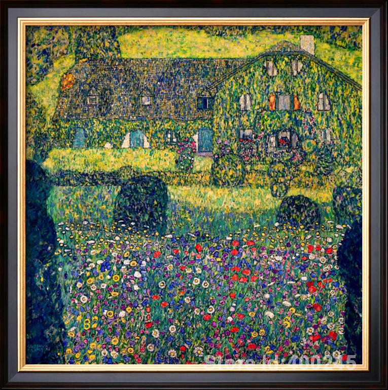 Aliexpresscom Buy Best Art Reproduction COUNTRY HOUSE ON - Best paintings great gustav klimt