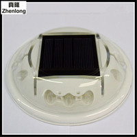 Neue Produkt Solarenergie Kunststoff Spike LED Doppelseitige 10 LEDS Spikes Aluminiumguss Nägel Lampe Energiesparende Grünes Licht