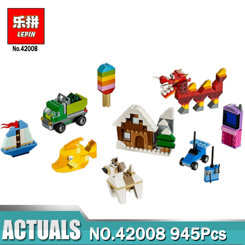 In stock Lepin 42008 Creative Bricks The Creative Box Set Building Blocks Kits Funny Toy Kid Gift Compatible Legoing 10704 Model dhl free shipping lepin 16002 pirate ship metal beard s sea cow model building kits blocks bricks toys compatible legoed 70810