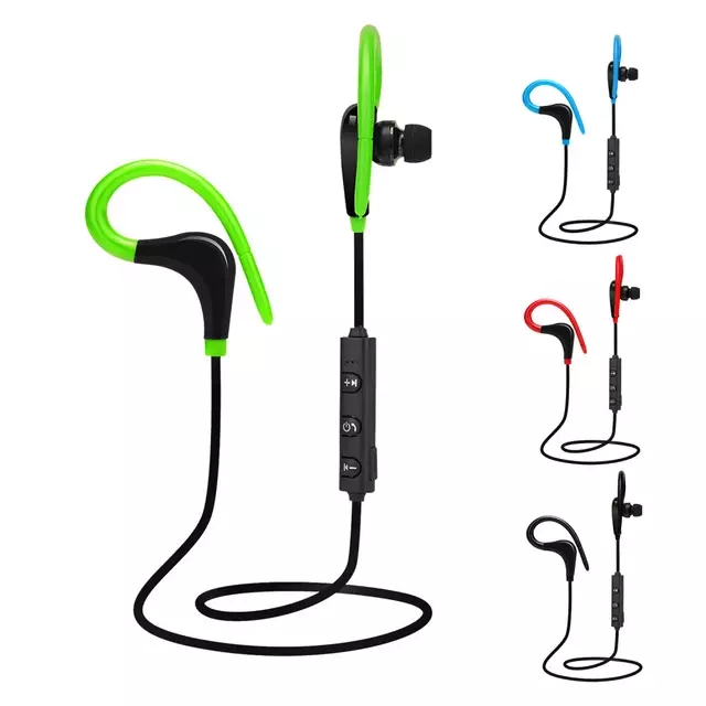 BT-1 Sports Wireless Bluetooth Earphones Stereo Headset Ear hook Waterproof Hifi Earbud Headphones With Mic for iPhone Android