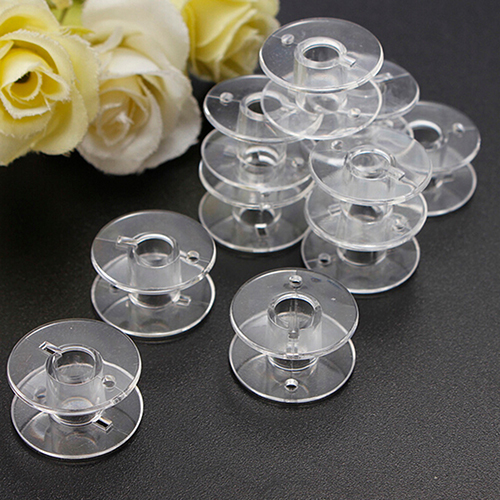 10Pcs Clear Plastic Sewing Bobbins Spool Threads Empty Spools For Brother Sewing Machine Handwork Accessories Sewing Tools