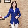 Autumn Blazer Women Zipper 2017 Spring New Women Korean Female Suit Jacket Slim Long-Sleeved Candy Color Plus Size 3XL Coat