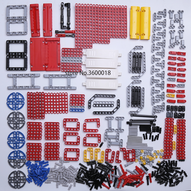 DECOOL Technic Parts Bulk MOC Car DIY Model Building Blocks Liftarm Beam Axle Connector Panel 800pcs
