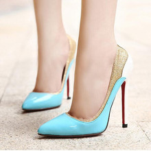 low heel shoes sexy pumps Shoes Pointed Toe High Heels paillette Wedding Shoes Women party shoes for women red bottom heels