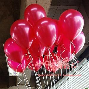 [플라이 독수리] 12 '솔리드 라텍스 풍선 결혼 행복 한 생일 파티 아기 빨간색 100pcs