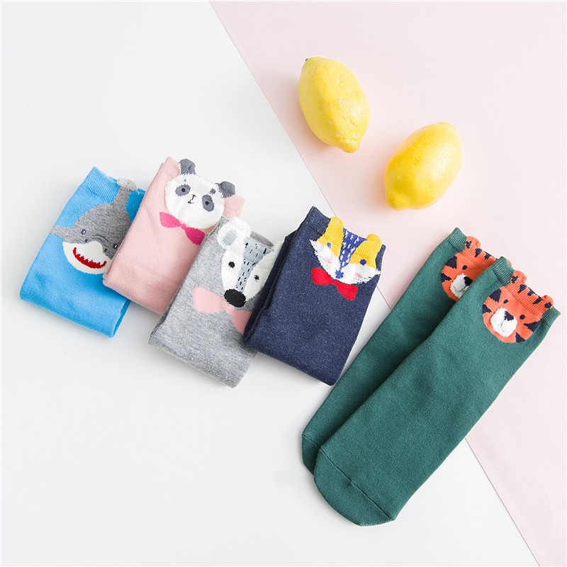 Animal Cartoon Harajuku Funny Socks Sheep Pigger Panda Cute Socks Women Creative Divertidos Sokken Lovely Art Calcetines Mujer Women's Socks & Hosiery
