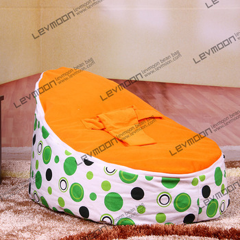 FREE SHIPPING baby seat with 2pcs orange up covers baby bean bag chair kid's bean bag seat cover lazy bone bean bag chair free shipping baby bean bag with 2pcs up covers baby bean bag chair kid s bean bag seat cover only bean bag chair cover