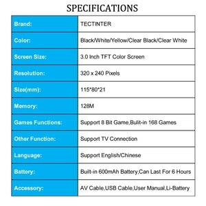 Image 3 - RS 6A Coolbaby רטרו נייד מיני כף יד משחק קונסולת 8 קצת 3.0 אינץ צבע LCD ילדים צבע משחק נגן נבנה ב 168 משחקים