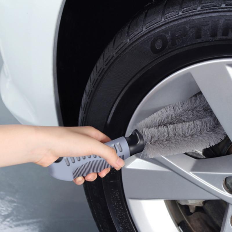 Car Vehicle Wheel Brush Washing Car Tire Rim Cleaning Brush Tool For Volkswagen VW Jetta MK5 MK6 Polo Scirocco Lavida Eos Bora
