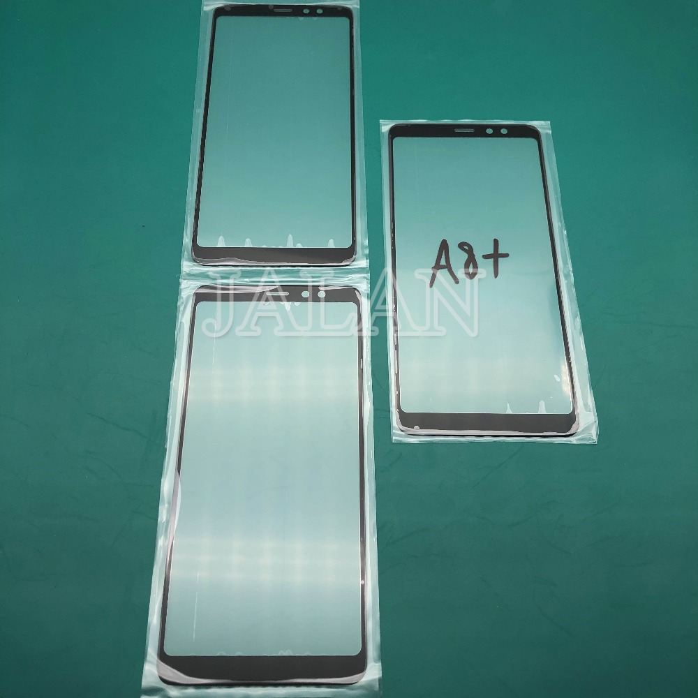 Jalan untuk SM A8 2018 A8 Plus 2018 Depan Kaca A530 A730 A7 2018 Retak Kaca LCD Touch Screen Panel pengganti Perbaikan