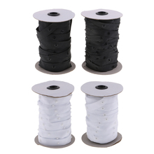 2 Rolls 50 Yards Resin Button Snap Tape Polyester Twill Sewing Duvet Cover Coat Fasteners
