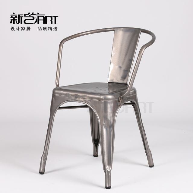 European Arm Chair Ikea Chair Metal Chair Casual Fashion Creative  Industrial Designer Chair IKEA