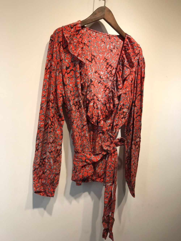 Cou Ruches Vintage Chemisier Taille New Chemises Imprimé Style Sexy Léopard Femmes Ceinture 6gYybf7v