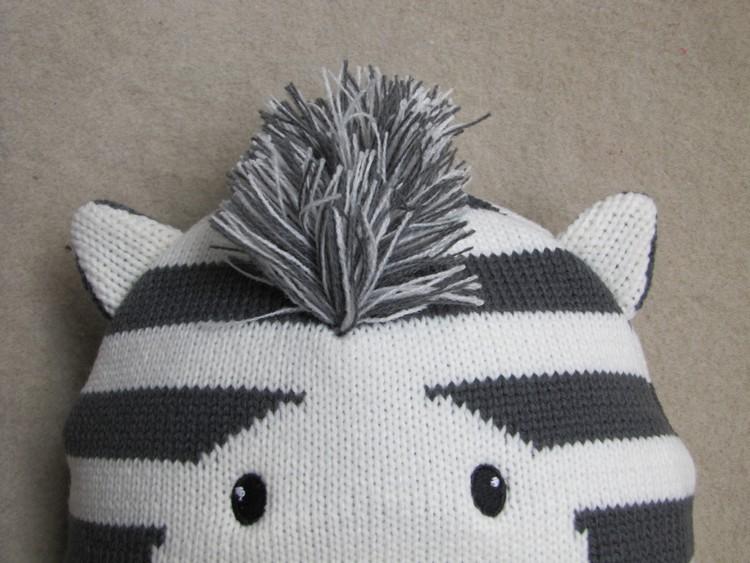 Baby Boys Winter Warm Hats Cartoon Zebra Pattern Caps Kids Knitted Caps Ear Flaps Beanies Children's Girls Cute Animal Sckullies 12