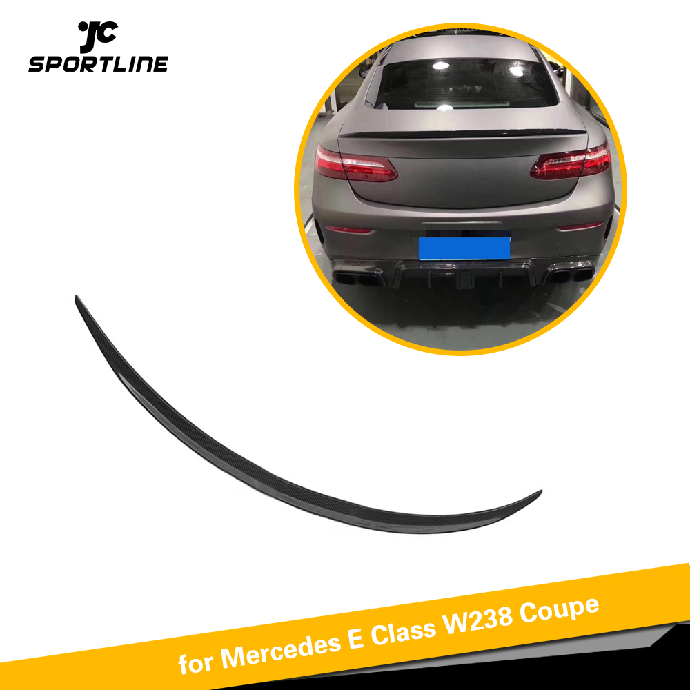 For Mercedes-Benz E Class W238 <font><b>C238</b></font> E250 E400 E500 E550 2017 - 2019 Carbon Fiber Rear Trunk <font><b>Spoiler</b></font> Boot Lip Wing Lip image